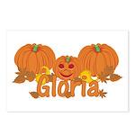 Halloween Pumpkin Gloria Postcards (Package of 8)