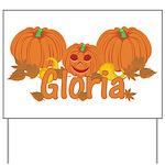 Halloween Pumpkin Gloria Yard Sign