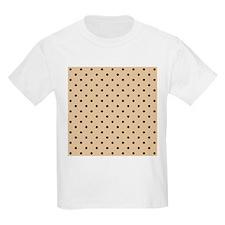 Beige and black polka dot. T-Shirt