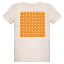 Orange and White Dot Design. T-Shirt
