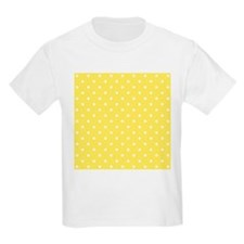 Yellow and White Dot Design. T-Shirt