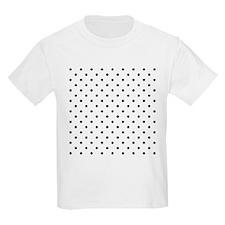 Black Polka Dot Pattern. T-Shirt