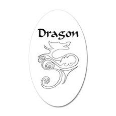 Tanya Dragon 35x21 Oval Wall Decal