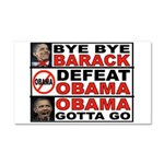 DEFEAT OBAMA Car Magnet 20 x 12
