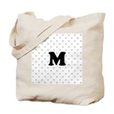 Your Letter on Gray dots. Tote Bag