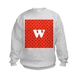 Your Letter on Red Polka Dot. Sweatshirt
