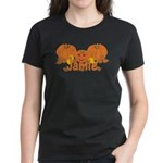 Halloween Pumpkin Jamie Women's Dark T-Shirt