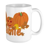 Halloween Pumpkin Jamie Large Mug