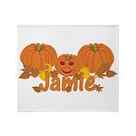 Halloween Pumpkin Jamie Throw Blanket
