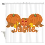 Halloween Pumpkin Jamie Shower Curtain