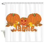 Halloween Pumpkin Jamie Shower Curtain