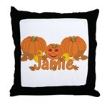 Halloween Pumpkin Jamie Throw Pillow