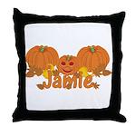 Halloween Pumpkin Jamie Throw Pillow