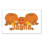 Halloween Pumpkin Jamie Sticker (Rectangle)