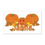 Halloween Pumpkin Jamie 20x12 Wall Decal