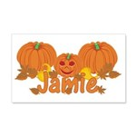 Halloween Pumpkin Jamie 20x12 Wall Decal