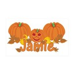 Halloween Pumpkin Jamie 35x21 Wall Decal