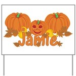 Halloween Pumpkin Jamie Yard Sign