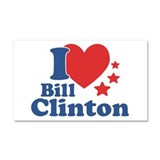 I Love Bill Clinton Car Magnet 20 x 12