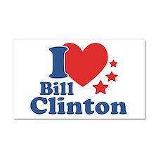 I Love Bill Clinton Car Magnet 20 x 12