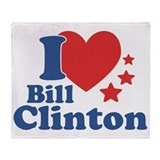 I Love Bill Clinton Throw Blanket
