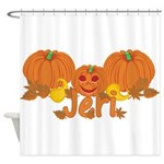 Halloween Pumpkin Jeri Shower Curtain
