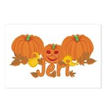 Halloween Pumpkin Jeri Postcards (Package of 8)