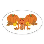 Halloween Pumpkin Jeri Sticker (Oval)