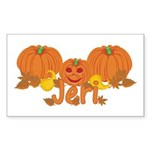 Halloween Pumpkin Jeri Sticker (Rectangle)