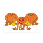 Halloween Pumpkin Jeri 35x21 Wall Decal