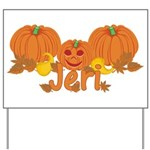 Halloween Pumpkin Jeri Yard Sign