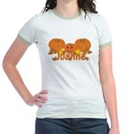 Halloween Pumpkin Joanne Jr. Ringer T-Shirt