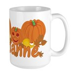 Halloween Pumpkin Joanne Large Mug