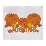 Halloween Pumpkin Joanne Throw Blanket
