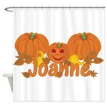 Halloween Pumpkin Joanne Shower Curtain