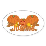 Halloween Pumpkin Joanne Sticker (Oval)