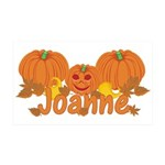Halloween Pumpkin Joanne 35x21 Wall Decal