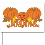 Halloween Pumpkin Joanne Yard Sign
