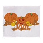 Halloween Pumpkin Jodi Throw Blanket
