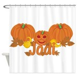 Halloween Pumpkin Jodi Shower Curtain