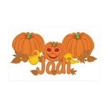Halloween Pumpkin Jodi 35x21 Wall Decal