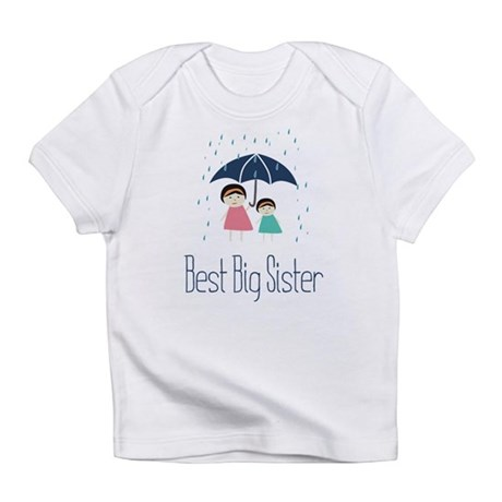 Best Big Sister Rain Infant T-Shirt