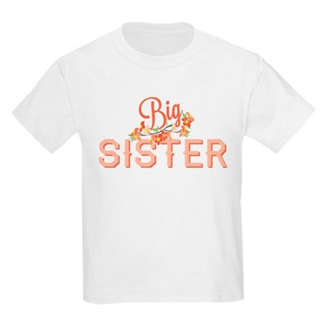 Floral Big Sister Kids Light T-Shirt