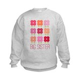 Big Sister Flowers  Sweatshirt
