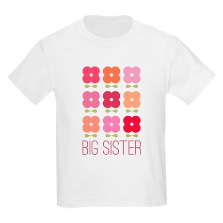 Big Sister Flowers Kids Light T-Shirt