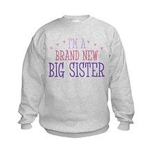 Brand New Big Sister Sweatshirt