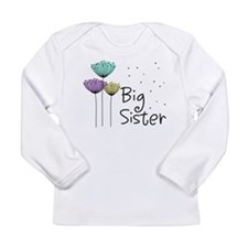 Big Sister Dandelions Long Sleeve Infant T-Shirt