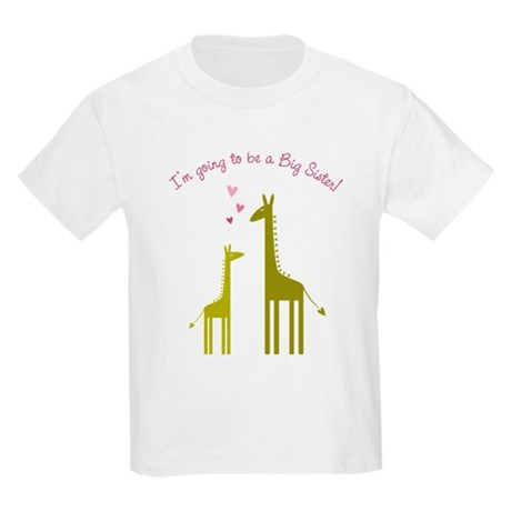 Big Sister Giraffes Kids Light T-Shirt