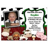 Farm Animals Birthday Invitation Invitations