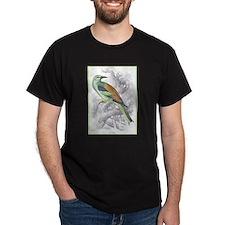 Roller Bird (Front) Black T-Shirt